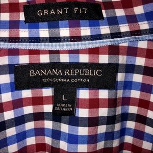 Banana Republic Grant Fit plaid shirt size Large